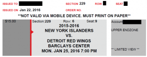 "Tickets acknowledge that seats are ""Limited View"""